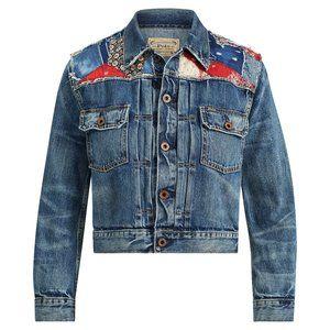 Womens Polo Ralph Lauren Embroidered Denim Jacket